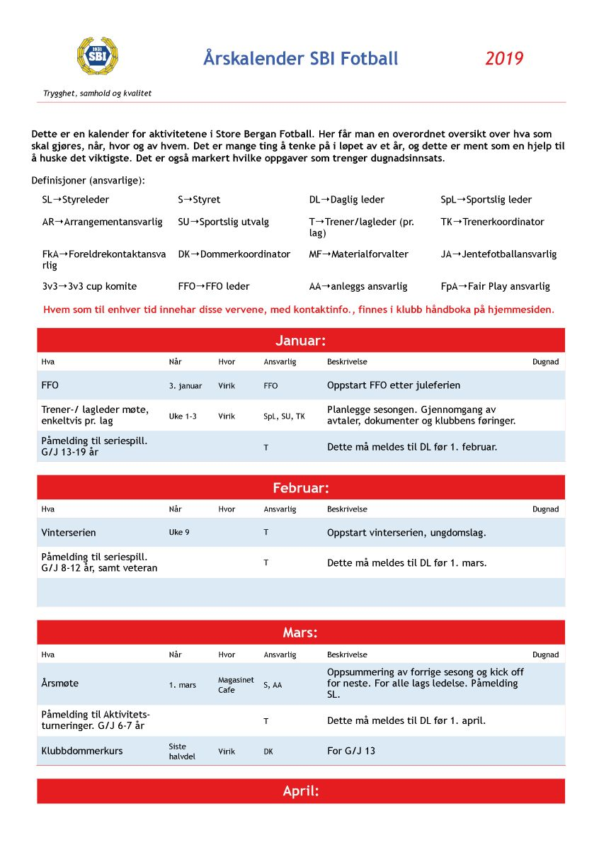 6b528bf2 Store Bergan Fotball - Årshjul 2019